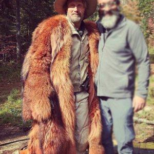 Mads Mikkelsen Chaos Walking Mayor Prentiss Long Faux Fur Coat