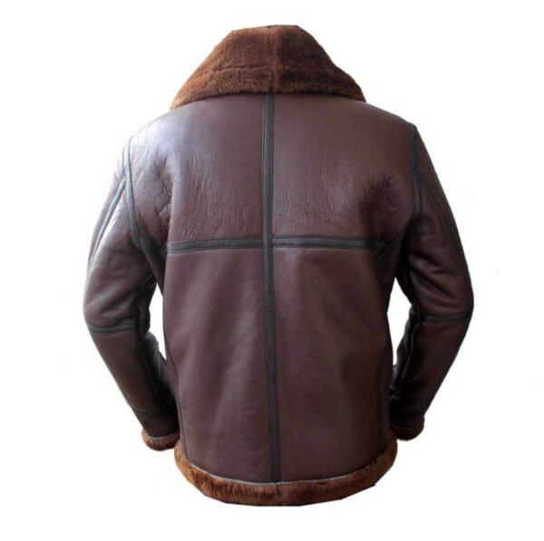 Coffmen Brown Leather Shearling Jacket