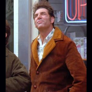 Seinfeld S09 Cosmo Kramer Jacket With Shearling Collar