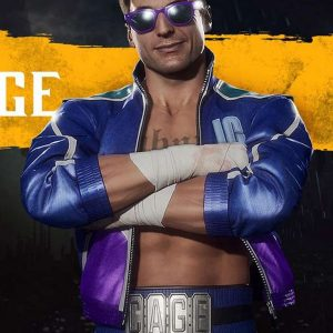 Video Game Mortal Kombat 11 Johnny Cage Blue Leather Jacket