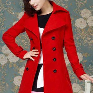 Katheryn Winnick Polar Vivian Red Wool Coat