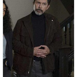 Lou Diamond Phillips Prodigal Son Jacket Gil Arroyo Suede Leather Jacket