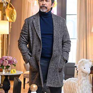 Lou Diamond Phillips Prodigal Son Gil Arroyo Grey Wool-Blend Coat