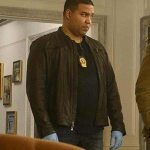 JT Tarmel TV Series Prodigal Son Frank Harts Brown Leather Jacket