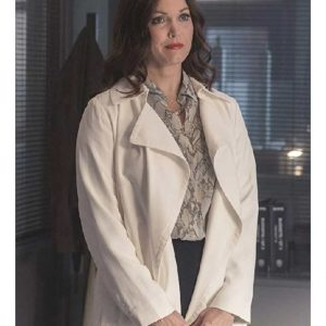 Jessica Whitly TV Series Prodigal Son Bellamy Young Off-White Trench Coat