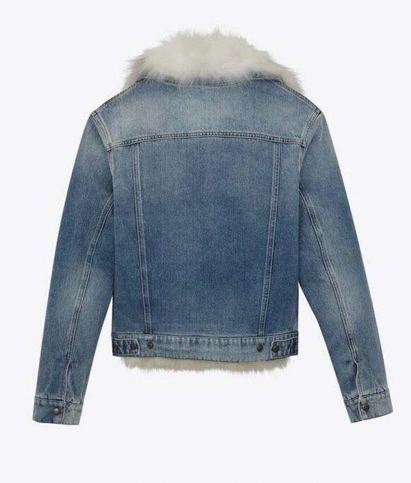 Real Housewives of Salt Lake City Fur Denim Jacket