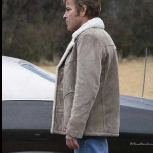 Roland West True Detective Suede Leather Shearling Collar Jacket