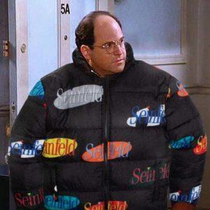 Seinfeld Puffer Multi Logo Black Jacket