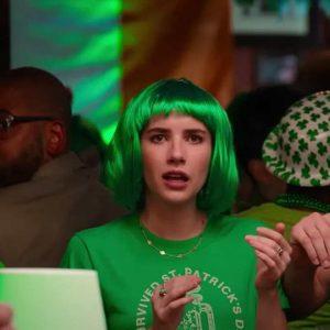 Emma Roberts Holidate Sloane Green T-Shirt