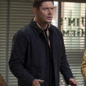 Jensen Ackles Supernatural Dean Winchester Season 15 Black Jacket