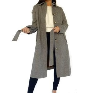 The Bachelor Tia Booth Grey Trench Coat