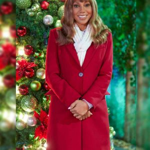 Dr. Zoey The Christmas Doctor Holly Robinson Peete Red Trench Coat