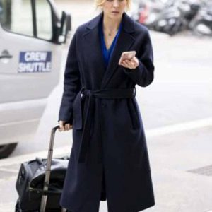 Cassie Bowden The Flight Attendant Black Trench Coat Kaley Cuoco Coat