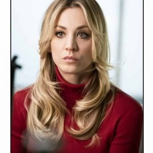 Cassie Bowden The Flight Attendant Kaley Cuoco Red Sweater