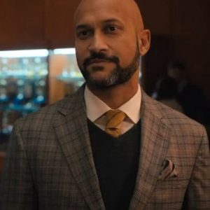 Mr. Hawkins The Prom Keegan-Michael Key Brown Checkered Coat