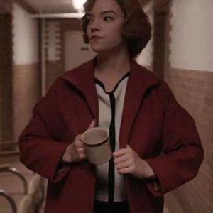 Anya Taylor-Joy The Queens Gambit Red Coat