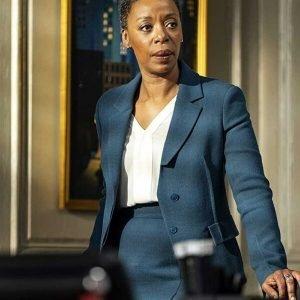 Noma Dumezweni The Undoing Haley Fitzgerald Blue Blazer Coat
