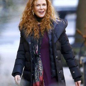 Nicole Kidman The Undoing Black Puffer Coat With Hood
