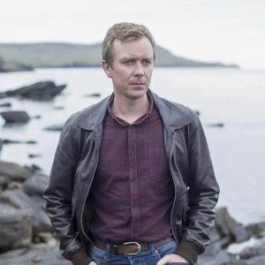 DC Sandy Wilson Shetland Steven Robertson Bomber Leather Jacket