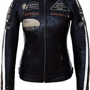 Vintage Style American Classic Urban Biker Leather Jacket