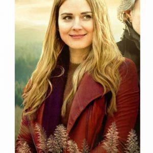 Alexandra Breckenridge Virgin River S02 Red Leather Jacket
