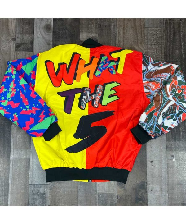 What The 5s Multicolor Bomber Jacket