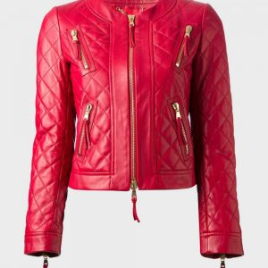 Red designer jacket