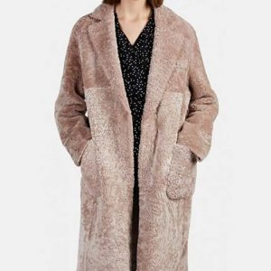 Sutton Foster Younger S06 Liza Miller Pink Fur Shearling Coat