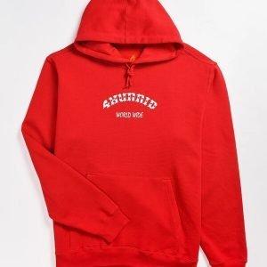 Large 4 Worldwide Red 4Hunnid Hoodie