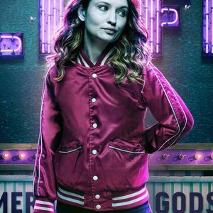 Laura Moon American Gods Emily Browning Red Bomber Jacket