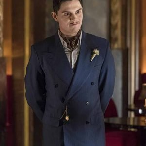 James March American Horror Story Evan Peters Blue Double-Breasted Coat