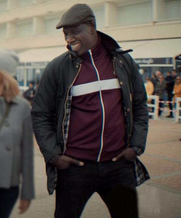 Omar Sy Arsene Lupin 2021 Assane Diop Black Cotton Jacket