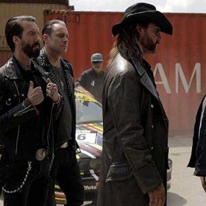 Henning Baum Asphalt Burning Lemmy Brown Leather Coat