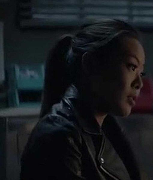 Mary Hamilton Batwoman Nicole Kang Black Leather Jacket