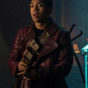 Chance Perdomo Chilling Adventures of Sabrina Ambrose Spellman Leather Coat