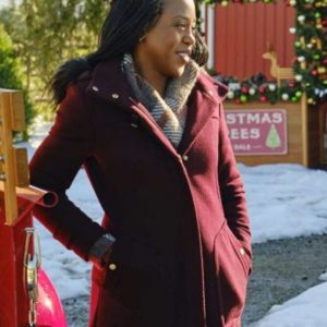 Hannah Christmas In Evergreen Bells are Ringing Rukiya Bernard Maroon Coat