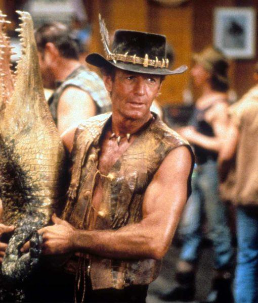 Crocodile Dundee Paul Hogan Leather Vest