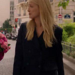 Camille Emily In Paris Black Double-Breasted Camille Razat Coat