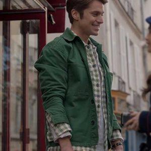 Lucas Bravo Emily In Paris Gabriel Green Cotton Jacket