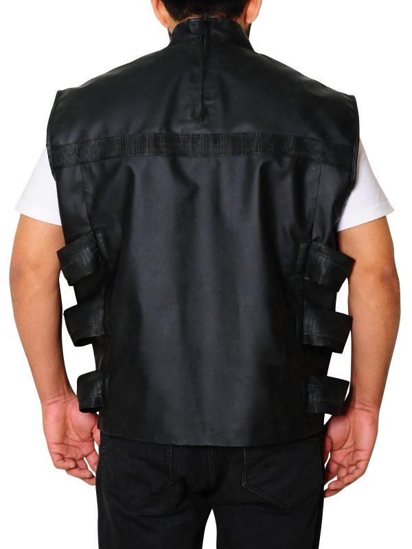 Punisher War Zone Skelton Leather Vest