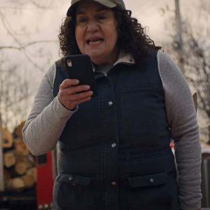 Beth Godmothered Olga Merediz Blue Cotton Vest