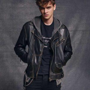 Darío HIT 2020 Gabriel Guevara Biker Leather Jacket