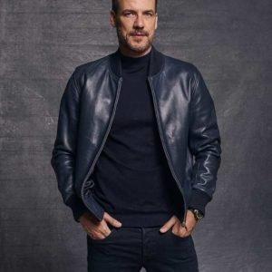 Hugo Ibarra Toledo HIT 2020 Daniel Grao Bomber Leather Jacket