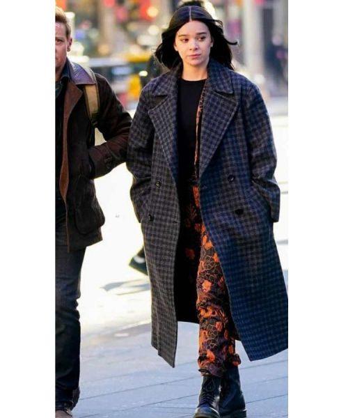 Hailee Steinfeld Hawkeye Plaid Coat Kate Bishop Checked Coat