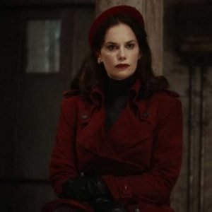 Mrs. Coulter His Dark Material S02 Ruth Wilson Suede Leather Coat