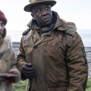 John Faa TV Series His Dark Materials Lucian Msamati Brown Leather Jacket