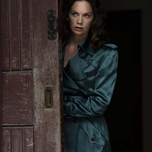 Ruth Wilson His Dark Materials Mrs Coulter Double-Breasted Trench Coat