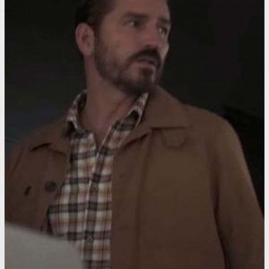 Doug Rawlins Infidel Jim Caviezel Brown Cotton Jacket
