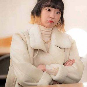 Jo Yi Seo Itaewon Class Kim Da-Mi White Fur Jacket