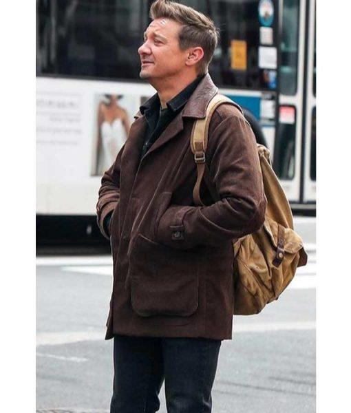 Hawkeye 2021 Jeremy Renner Jacket Clint Barton Brown Leather Jacket